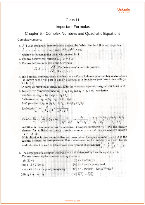 Chapter 5 - Complex Numbers and Quadratic Equations part-1