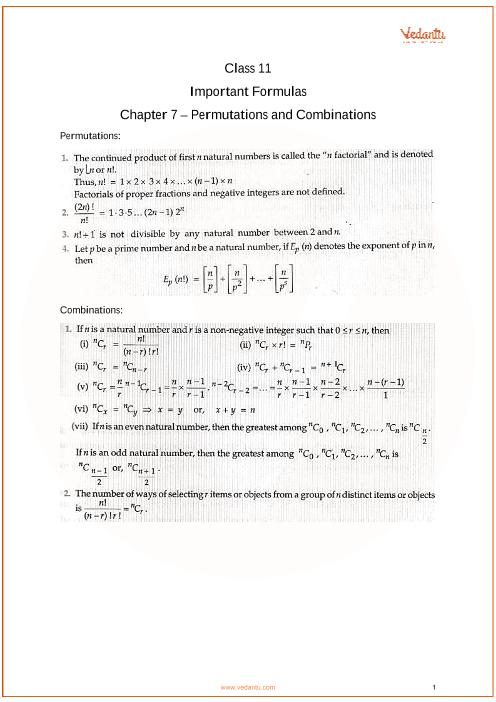 Chapter 7 - Permutations and Combinations part-1