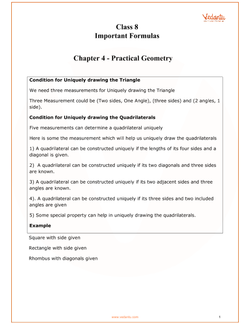 Chapter 4 - Practical Geometry part-1
