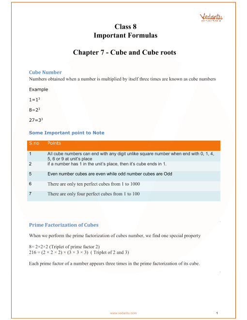 Chapter 7 - Cube and Cube Roots part-1