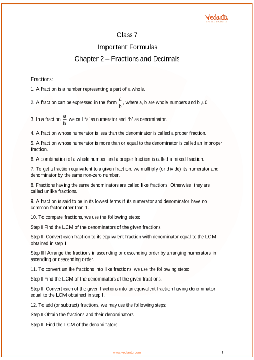 Chapter 2 - Fractions and Decimals part-1