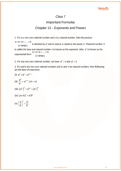 Chapter 13 - Exponents and Powers part-1