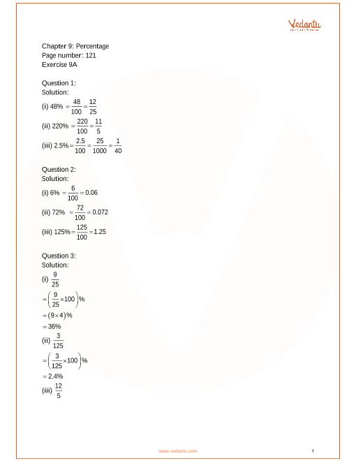 Chapter 9 - Percentage part-1