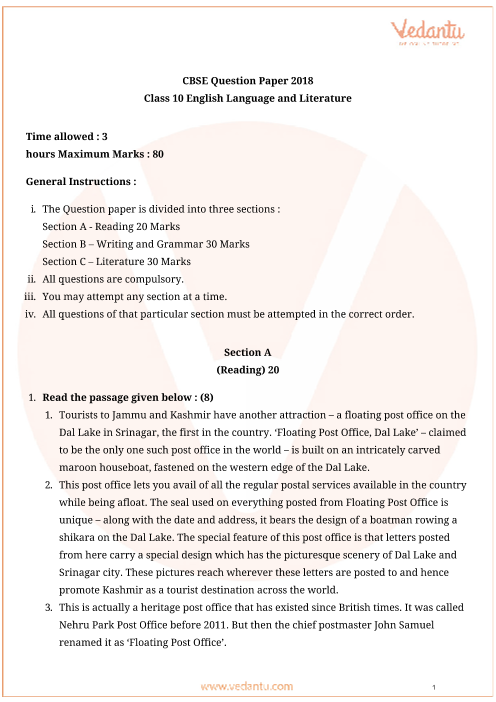 CBSE_Question_Paper_English_L&L-2018 part-1