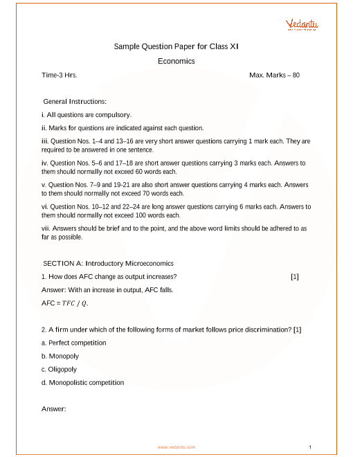 economics question paper for 3rd term grade11