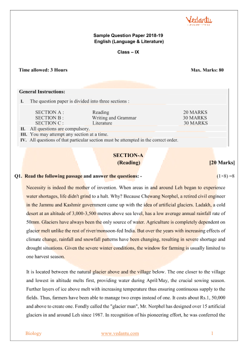Otba material for class 9 english pdf