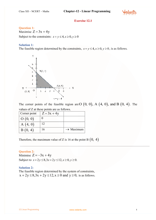 Chapter 12 - Linear Programming part-1