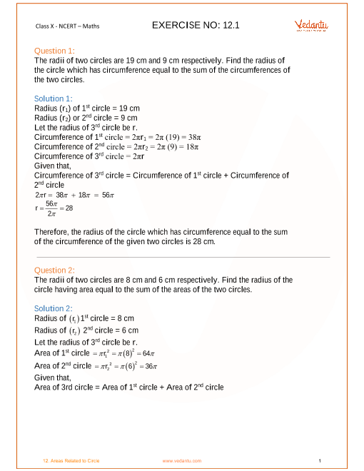 Chapter 12-Areas Related to Circle part-1