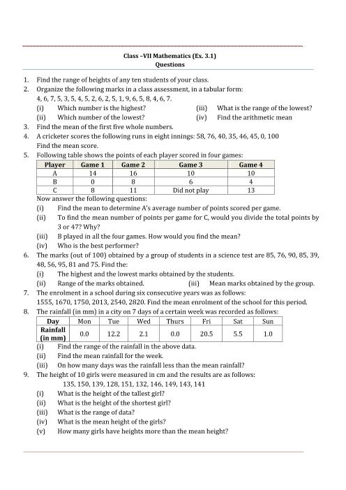 NCERT Solutions for Class 7 Maths Chapter 3 part-1