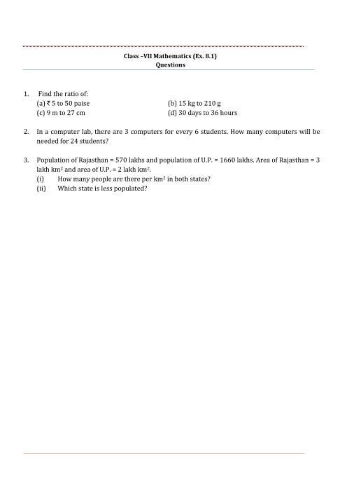 NCERT Solutions for Class 7 Maths Chapter 8 part-1