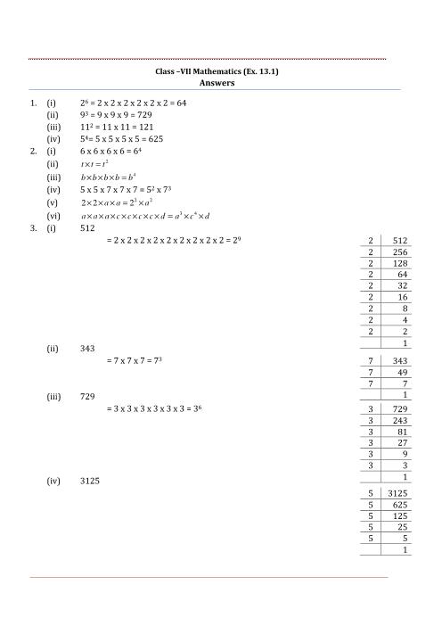NCERT Solutions for Class 7 Maths Chapter 13 part-1