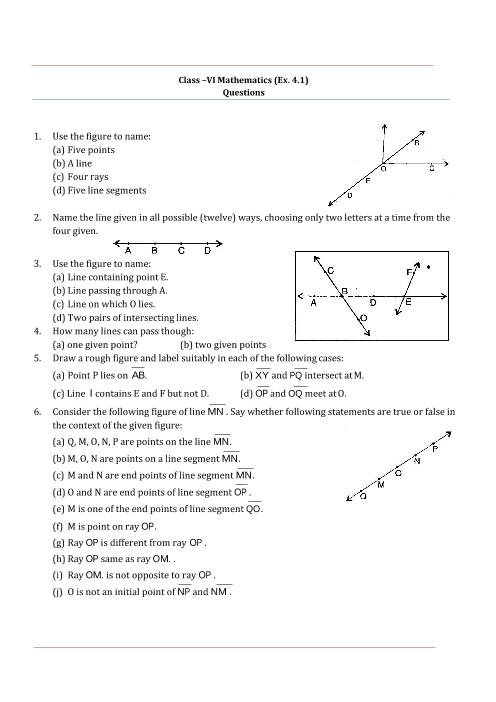 NCERT Solutions for Class 6 Maths Chapter 4 part-1