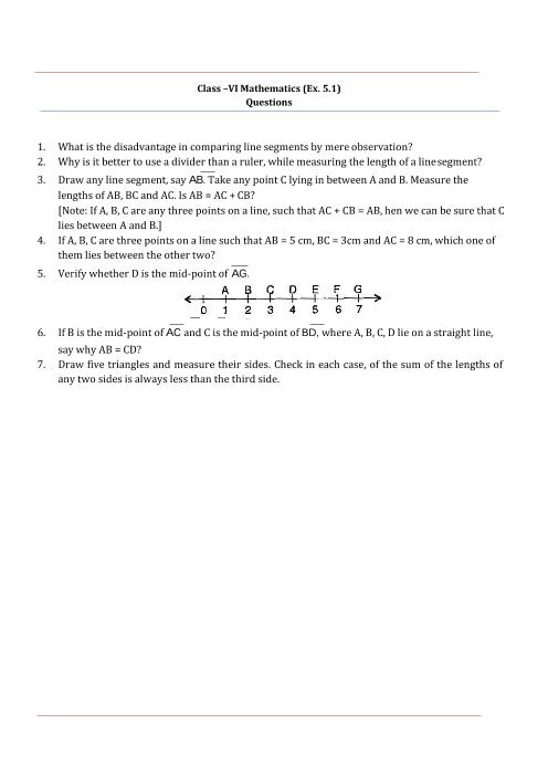 NCERT Solutions for Class 6 Maths Chapter 5 part-1