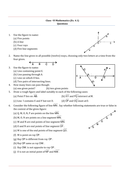 NCERT Solutions for Class 6 Maths Chapter 4 part-1
