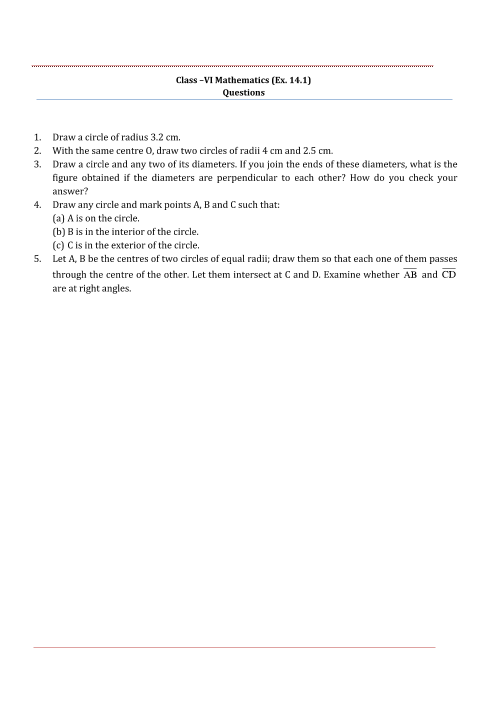 NCERT Solutions for Class 6 Maths Chapter 14 part-1
