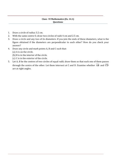 NCERT Solutions for Class 6 Maths Chapter 14 part-1