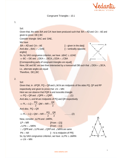 10 - Congruent triangles part-1