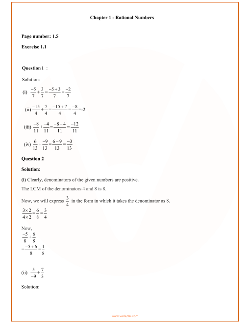 RD Sharma Class 8 Solutions Chapter 1 part-1