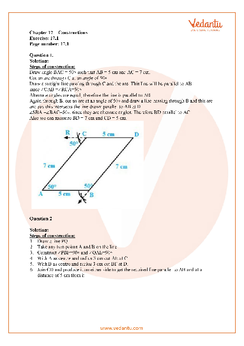 RD Sharma Class 7 Solutions Chapter 17 part-1