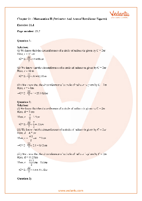 RD Sharma Class 7 Solutions Chapter 21 part-1