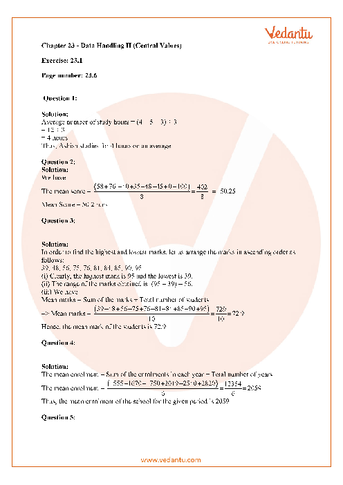 RD Sharma Class 7 Solutions Chapter 23 part-1