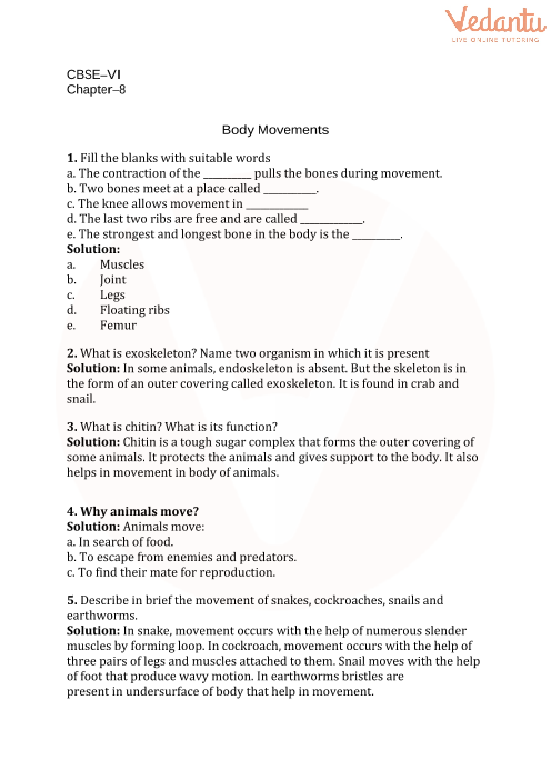 8. Body Movements part-1