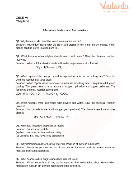 4. Materials- Metals and non-metals part-1