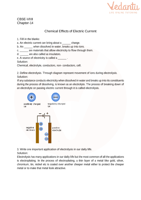 14. Chemical Effects of Electric Current part-1